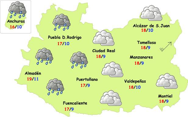 La semana se inicia con nuevas lluvias y más fresco en Ciudad Real