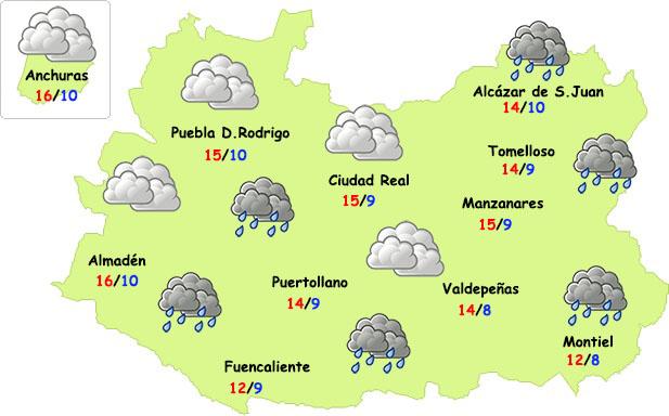 Nuevas lluvias y descenso de temperaturas este jueves en Ciudad Real