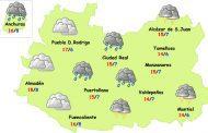 Viernes: otro día muy fresco y chubascos o tormentas de tarde