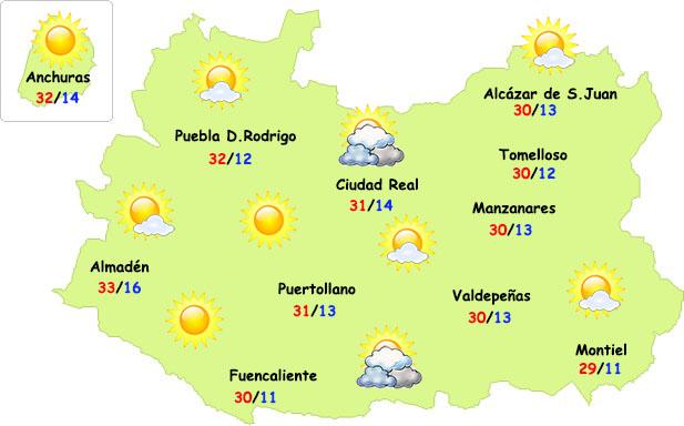 El tiempo en Ciudad Real: el calor da otro paso más