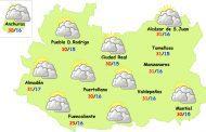 La semana comenzará estable y con ligera bajada de temperaturas