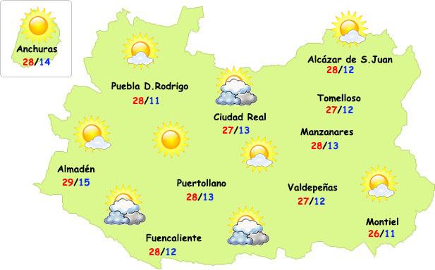 Ligera subida de temperaturas y sin lluvias...hasta el domingo