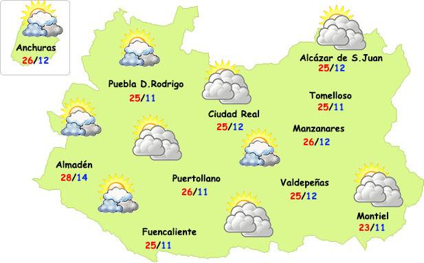 Comienzo de semana fresco en la provincia de Ciudad Real