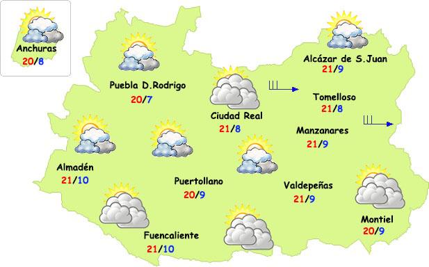 Las temperaturas se desploman este fin de semana en Ciudad Real