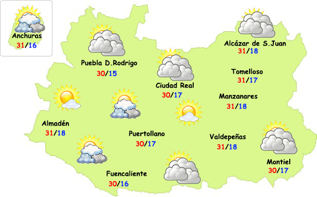 El tiempo en Ciudad Real: pequeña bajada de temperaturas