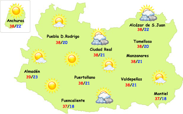 El tiempo en Ciudad Real: nuevo pico de calor