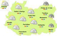 El tiempo en Ciudad Real: ligera bajada de temperaturas y...¿alguna tormenta?