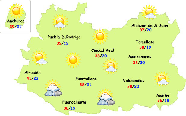 El tiempo en Ciudad Real: nuevo pico de intenso calor