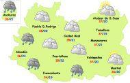 Martes de bochorno y lluvias débiles con posible barro