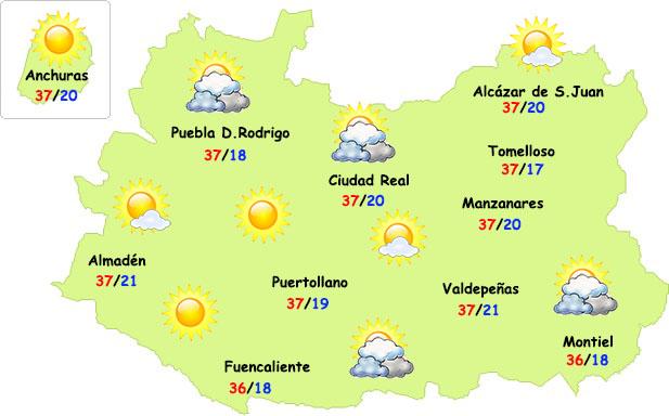 El tiempo en Ciudad Real: nueva subida de temperaturas