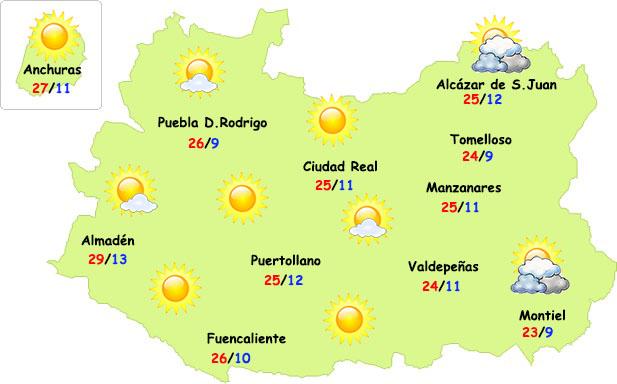 El tiempo en Ciudad Real: desplome de temperaturas