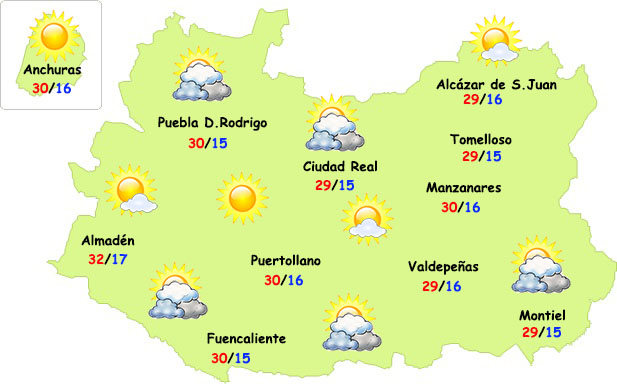 El tiempo en Ciudad Real: más nubes y menos calor