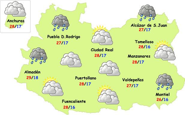 Las lluvias (débiles) regresarán el miércoles por la noche a la provincia de Ciudad Real