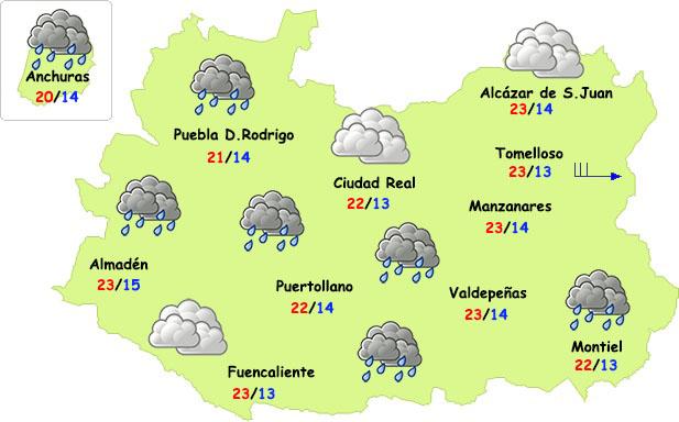 El tiempo en Ciudad Real: alguna lluvia débil y fresco