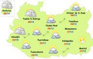 El tiempo en Ciudad Real: fuerte subida de temperaturas, más viento y más nubes