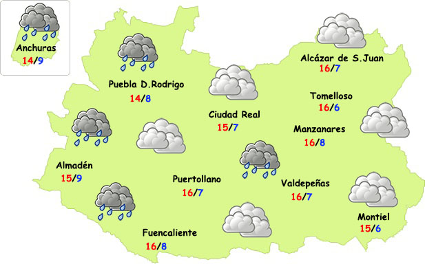 El tiempo en Ciudad Real: sábado de nieblas y domingo de frente débil