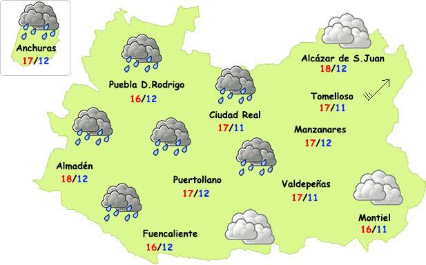 El tiempo en Ciudad Real: lluvias el viernes noche y algo más de frío