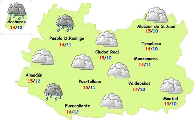 El tiempo en Ciudad Real: posibles lluvias el sábado