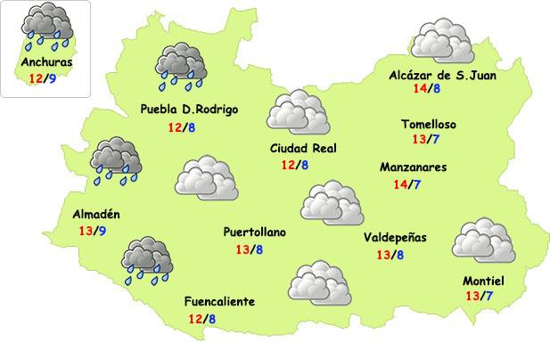 El tiempo en Ciudad Real: más nubes y menos frío nocturno