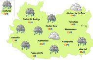 El tiempo en Ciudad Real: menos lluvias el fin de semana