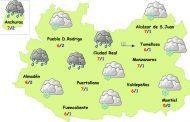 Viernes lluvia, frío y nieve en la provincia de Ciudad Real