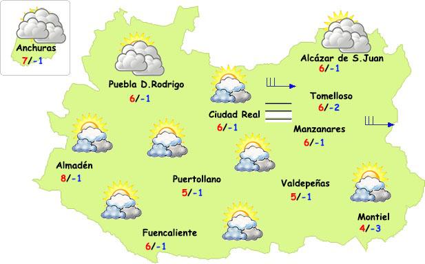 El tiempo en Ciudad Real: fin de semana muy frío