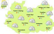Nochevieja y Año Nuevo traen lluvia, frío y algo de nieve a la provincia de Ciudad Real