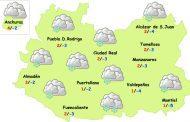 El tiempo en Ciudad Real: lunes de nubes, frío y nevadas débiles