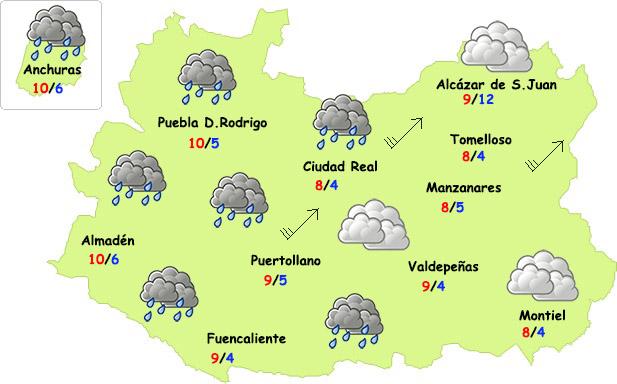 El tiempo en Ciudad Real: fin de semana de nubes, lluvias y frío contenido