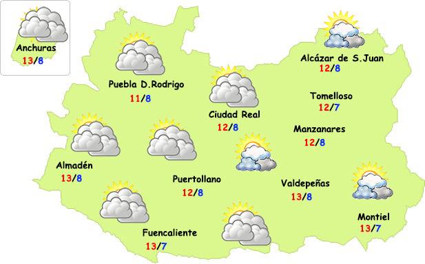 El tiempo en Ciudad Real: menos nubes y poco frío