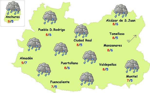 El tiempo en Ciudad Real: vuelve el invierno con lluvia y desplome de temperaturas