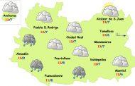 El tiempo en Ciudad Real: menos lluvias y poco frío