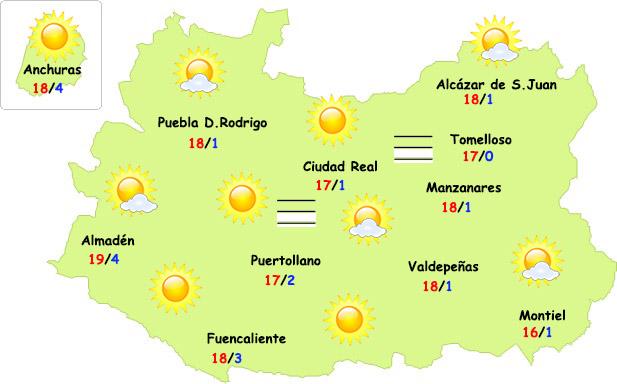 El tiempo en Ciudad Real: seguirá la primavera