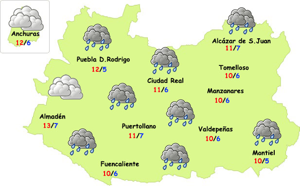 El domingo cambia el tiempo en Ciudad Real: algo de lluvia y bajada de temperaturas