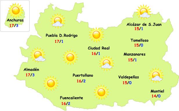 El tiempo en Ciudad Real: comienza la recuperación de las temperaturas