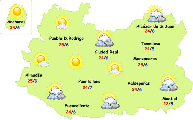 El tiempo en Ciudad Real: calima y