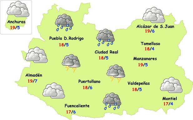El tiempo en Ciudad Real: fin de semana más tormentoso