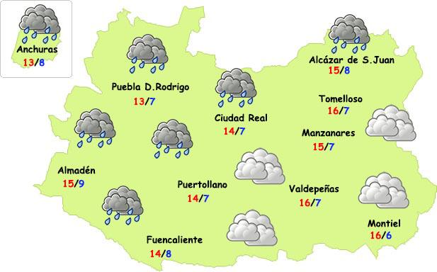 El tiempo en Ciudad Real: pocas lluvias y más fresco