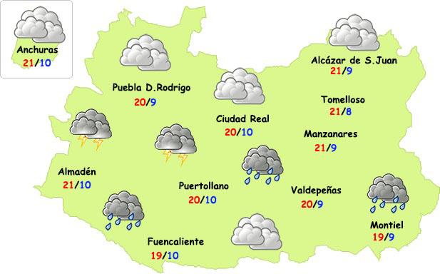 Miércoles inestable en la provincia de Ciudad Real