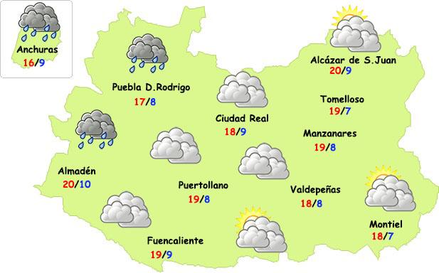 El tiempo en Ciudad Real: lluvias en la noche del miércoles al jueves