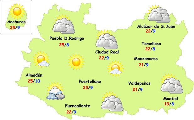 El tiempo en Ciudad Real: nubes de evolución y más calor