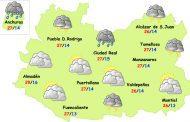 El tiempo en Ciudad Real: leve inestabilidad y bajada de temperaturas