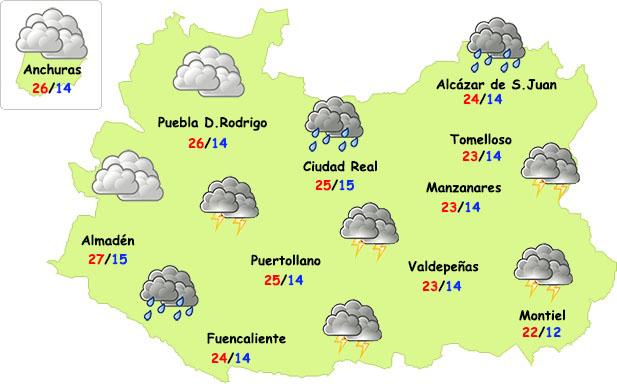 El tiempo en Ciudad Real: posibles tormentas el sábado y bajada de temperaturas