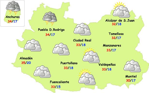 El tiempo en Ciudad Real: más nubes y algo menos de calor