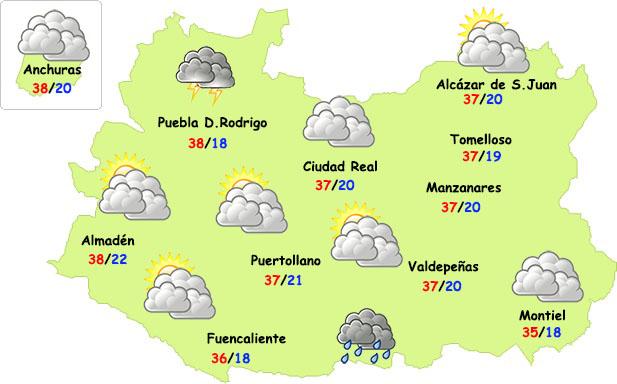 El tiempo en Ciudad Real: lunes de débil inestabilidad y calor intenso