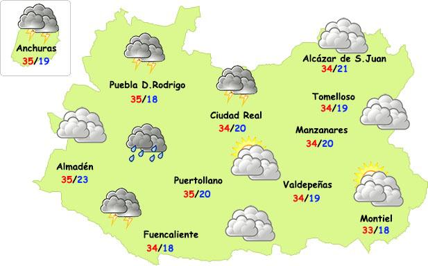 Las tormentas se extenderán más por Ciudad Real este martes