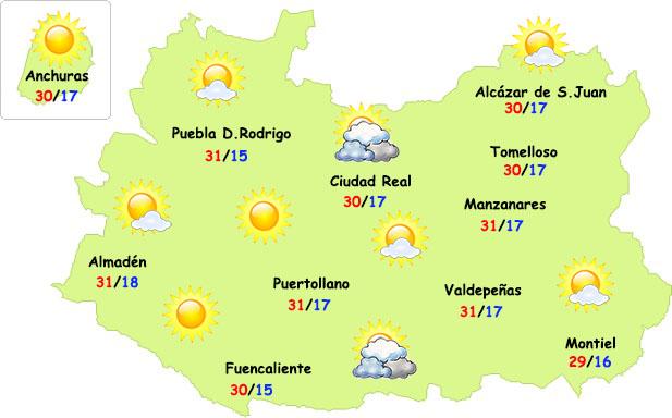 El tiempo en Ciudad Real: estabilidad y calor llevadero
