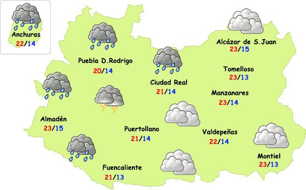 El tiempo en Ciudad Real: miércoles de lluvia en el oeste de la provincia